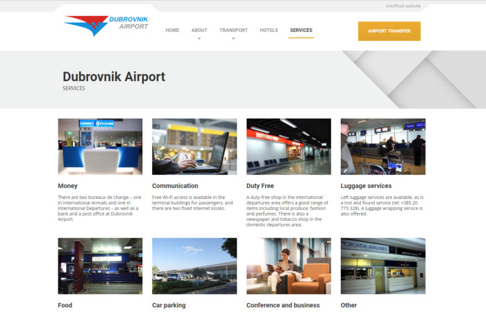 Dmitry Hans Dubrovnic Airport website